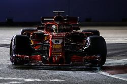 September 14, 2018 - Singapore, Singapore - Motorsports: FIA Formula One World Championship 2018, Grand Prix of Singapore, .#5 Sebastian Vettel (GER, Scuderia Ferrari) (Credit Image: © Hoch Zwei via ZUMA Wire)