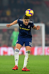 February 27, 2019 - Southampton, England, United Kingdom - Fulham midfielder Tom Cairney heads clear during the Premier League match between Southampton and Fulham at St Mary's Stadium, Southampton on Wednesday 27th February 2019. (Credit Image: © Mi News/NurPhoto via ZUMA Press)