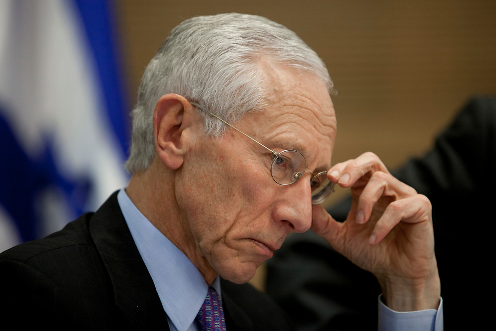 Bank of Israel Governor Prof. Stanley Fischer attends a session of the Finance Committee at the Knesset, Israel's Parliament in Jerusalem, on December 7, 2011.