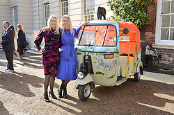 Thursday 26th March 2015, The Elephant Family charity and Quintessentially Foundation announced the launch of 'Travels To My Elephant' – a once-in-a-lifetime rickshaw race taking place in India in November 2015. The official launch of the venture took place at Clarence House at an exclusive reception hosted by TRH The Prince of Wales and The Duchess of Cornwall,  joint patrons of Elephant Family.<br /> Picture shows:- Left to right, MARY POWYS and RUTH POWYS.