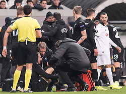 Ricardo Andrade Quaresma Bernardo of Besiktas JK  (R) leaves the match with a red card during the UEFA Europa League group I match between between Besiktas AS and Malmo FF at the Besiktas Park on December 13, 2018 in Istanbul, Turkey