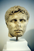 Alexander the Great  (Alexander III of Macedon), 356-323 BC. Contemporary Greek bust showing Alexander as a youth