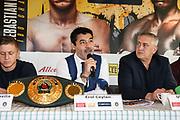 BOXEN: EC Boxpromotion & SES Boxing, Pressekonferenz, Hamburg, 17.12.2019<br /> v.l.: Sebastian Formella, Promoter Erol Ceylan und Ulf Steinforth<br /> © Torsten Helmke