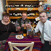 Ann Leyden, David Lasbleye and Tom Rafter at the Gourmet Store