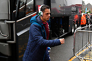Javier Hernandez (17) of West Ham United gets off the team bus on arrival at the Vitality Stadium before the Premier League match between Bournemouth and West Ham United at the Vitality Stadium, Bournemouth, England on 19 January 2019.