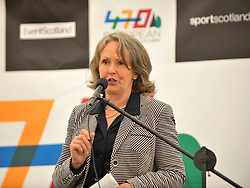 Steering group Chair Fiona Barron opens 470 European Championships, Largs 2012