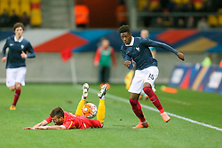28.03.2016, Stade Mmarena, Le Mans, FRA, UEFA U21 Euro Qualifikation, Frankreich vs Mazedonien, Gruppe 3, im Bild dembele ousmane // during the UEFA U21 Euro qualifier group 3 match between France and Macedonia at the Stade Mmarena in Le Mans, France on 2016/03/28. EXPA Pictures © 2016, PhotoCredit: EXPA/ Pressesports/ Vincent Michel<br /> <br /> *****ATTENTION - for AUT, SLO, CRO, SRB, BIH, MAZ, POL only*****