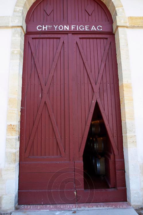 Winery building. Chateau Yon Figeac, Saint Emilion, Bordeaux France