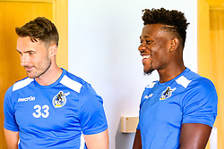 Alex Rodman and Rollin Menayese of Bristol Rovers during the first day of preseason training ahead of the 2019/20 Sky Bet League One Season - Mandatory by-line: Robbie Stephenson/JMP - 27/06/2019 - FOOTBALL - The Lawns - Bristol, England - Bristol Rovers Return for Preseason Training