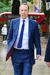 © Licensed to London News Pictures. 10/06/2019. London, UK. Matt Hancock MP, candidate for the leadership of the Conservative Party and to become Prime Minister is seen Westminster. Photo credit: Dinendra Haria/LNP
