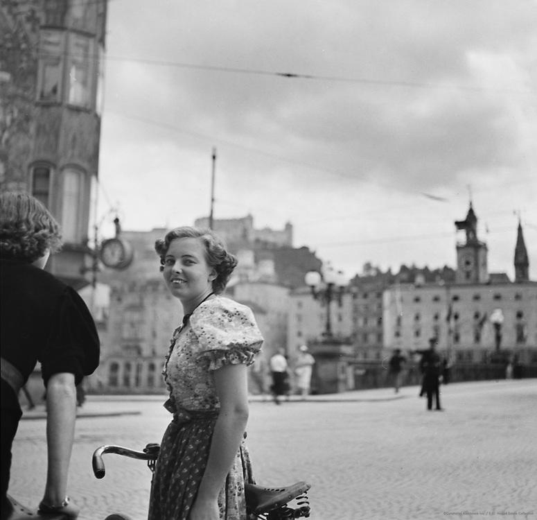 Woman with Bicycle, Salzburg, Austria, 1937