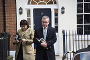 SARAH VINE; MICHAEL GOVE, , guests leaving the wedding receptions for Jerry Hall to Rupert Murdoch, Spencer House, London. 5 March 2016