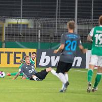 12.09.2020, Ernst-Abbe-Sportfeld, Jena, GER, DFB-Pokal, 1. Runde, FC Carl Zeiss Jena vs SV Werder Bremen<br /> <br /> <br /> Leonardo Bittencourt  (Werder Bremen #10)<br /> Can Düzel (Carl Zeiss Jena #11)<br /> René Lange (Carl Zeiss Jena #20)<br /> Joshua Sargent (Werder Bremen #19)<br /> <br />  <br /> <br /> <br /> Foto © nordphoto / Kokenge
