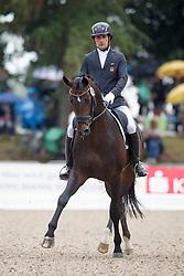 Garcia Mena Jose Antonio, (ESP), Belconi<br /> First Qualifier 6 years old horses<br /> World Championship Young Dressage Horses - Verden 2015<br /> © Hippo Foto - Dirk Caremans<br /> 07/08/15