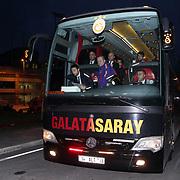 Galatasaray's Bus during their Turkish Super League soccer match Istanbul Basaksehir between Galatasaray at the Basaksehir Fatih Terim Arena at Basaksehir in Istanbul Turkey on Sunday, 26 October 2014. Photo by Aykut AKICI/TURKPIX