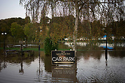 Flooded pub garden in Shrawley, United Kingdom. The 2019 floods in England have been described as unprecedented, with the assumption they were unavoidable or unpredictable. However over the past few decades, development in England has allowed more than 300,000 homes being built in high flood risk areas, and on flood plains.