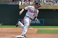 Brian Dozier #2 of the Minnesota Twins rounds 3rd base against the Seattle Mariners on June 2, 2013 at Target Field in Minneapolis, Minnesota.  The Twins defeated the Mariners 10 to 0.  Photo: Ben Krause