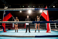 Slovenian and Austrian flags during Dejan Zavec Boxing Gala event in Sentilj, on September 30, 2017 in Mond, Casino & Hotel, Sentilj, Slovenia. Photo by Vid Ponikvar / Sportida