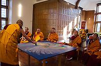 St Paul's School Sand Mandala Closing Ceremony.  ©2019 Karen Bobotas Photographer