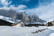 Just three hours north-east of Milan, the impressive jagged peaks of The Dolomites or Dolomiti, span the provinces of Trentino and Alto Adige, jutting into neighbouring Veneto. As the sea on had barely started it made for the perfect escape but at the height of season, Europeans flock here throughout the winter season, taking advantage of a plethora of highly hospitable and cozy resorts, sublime natural settings and of course, an extensive selection of skiing for all levels. Come for downhill, cross-country and snowboarding or get ready for sci alpinismo, an adrenalin-spiking mix of skiing and mountaineering, freeride and a range of other winter adventure sports, including on the legendary circuit, the Sella Ronda. Given it was a family weekend escape, we chose to keep it simple sticking to some gentle mountaineering up to the Refugio Cardeccia, some rich but tasty local cuisine, a couple of locally brewed beers in the sunshine surround by sublime views and an abundance of fresh air, before heading down by sledge to the charming mountain village of Moena for what we thought was some well deserved Apre-Ski.