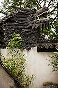 Dragon Wall Decorative traditional wall in Yu Yuan Gardens Shanghai, China