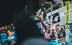 06.01.2020, Paul Außerleitner Schanze, Bischofshofen, AUT, FIS Weltcup Skisprung, Vierschanzentournee, Bischofshofen, Finale, Podium Gesamtsieg, im Bild Gesamtsieger Dawid Kubacki (POL) // Overall Winner Dawid Kubacki of Poland during Podium for the overall victory of the Four Hills Tournament of FIS Ski Jumping World Cup at the Paul Außerleitner Schanze in Bischofshofen, Austria on 2020/01/06. EXPA Pictures © 2020, PhotoCredit: EXPA/ JFK