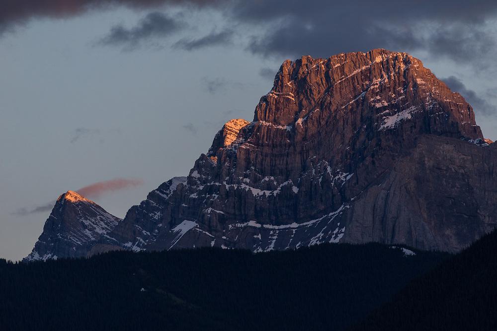 Mt Lougheed 3,107m (10,194ft)  at Sunset