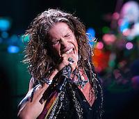 Aerosmith's Steven Tyler performing at The Boston Garden, July 17, 2012.