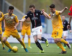Falkirk's Blair Alston and Morton's Ricki Lamie and Morton's Ross Forbes. <br /> Falkirk 1 v 0 Morton, Scottish Championship game  played 1/5/2016 at The Falkirk Stadium.