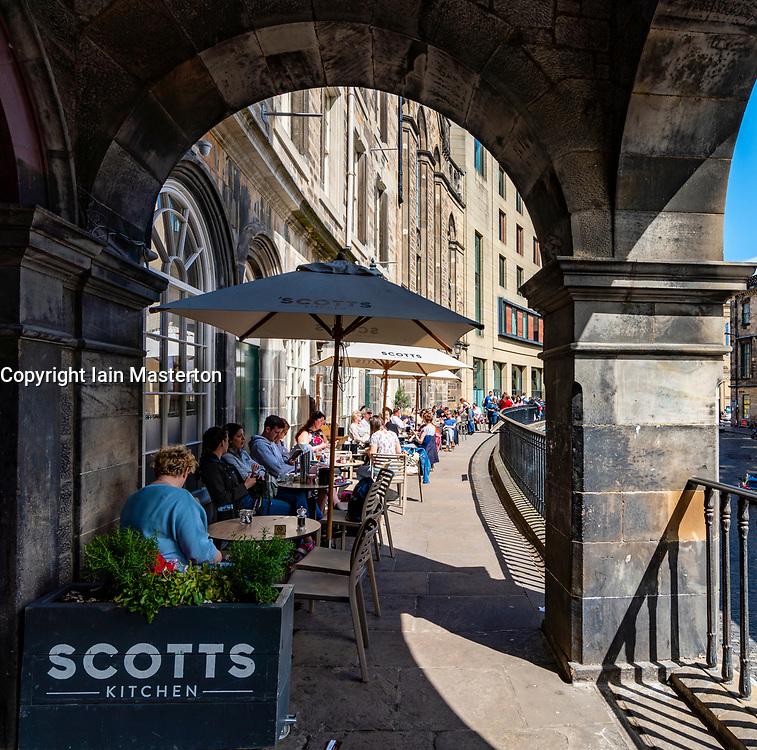 Scotts Restaurant on Victoria Terrace in Edinburgh Old Town, Scotland, UK