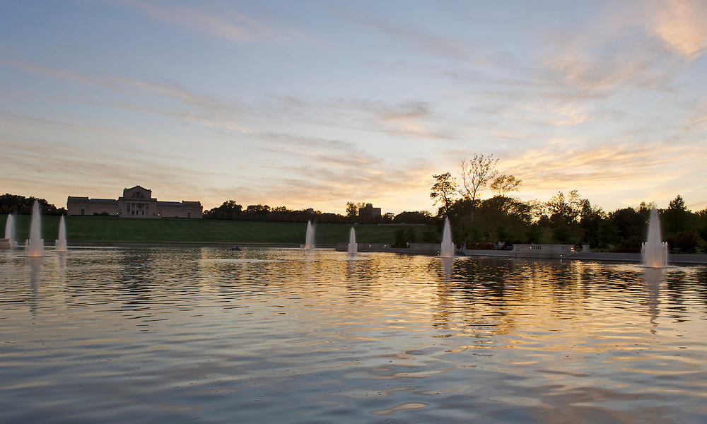 Forest Park's Grand Basin in St. Louis, Missouri.
