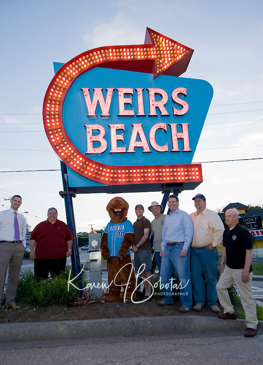Weirs Beach sign lighting to kick off the 2010 summer season  May 20, 2010.