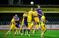 Grega Sikosek of NK Domzale and Sven Sostaric Karic of NK Domzale during football match between NK Domzale and NK Maribor in 2nd Round of Prva liga Telekom Slovenije 2020/21, on August 30, 2020 in Športni park Domzale, Slovenia. Photo by Vid Ponikvar / Sportida