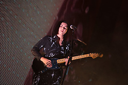 Romy Madley Croft of The xx performs on stage on day 2 of All Points East festival in Victoria Park in London, UK. Picture date: Saturday 26 May 2018. Photo credit: Katja Ogrin/ EMPICS Entertainment.