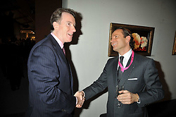 Left to right, LORD MANDELSON and STEPHANE CUSTOT at the Moet Hennessy Pavilion of Art & Design London Prize 2009 held in Berkeley Square, London on 12th October 2009.