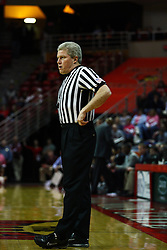 12 February 2011: Referee Eric Curry during an NCAA Missouri Valley Conference basketball game between the Missouri State Bears and the Illinois State Redbirds at Redbird Arena in Normal Illinois.