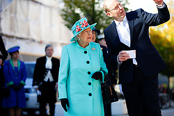 Queen Elizabeth II during a visit to the Lexicon shopping centre in Bracknell.