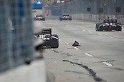 31 August - 2 September, 2012, Baltimore, Maryland USA.JR Hildebrand (4) crashes during Saturday practice. .(c)2012, Jamey Price.LAT Photo USA