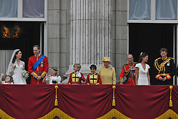 Buckingham Palace has announced Prince Philip, The Duke of Edinburgh, has passed away age 99 - FILE - Prince William and his bride Princess Catherine appear at the balcony of Buckingham Palace along with Queen Elizabeth, Prince Philip, Charles Prince of Wales, Camilla Duchess of Cornwall, Prince Harry, Pippa Middleton and James Middleton after their wedding ceremony in London, UK on April 29, 2011. Photo by Christophe Guibbaud/ABACAPRESS.COM