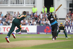 Matt Henry of Worcestershire Rapids (C) is caught behind by Chris Read of Notts Outlaws (R) off the bowling of Harry Gurney - Mandatory by-line: Jack Phillips/JMP - 09/07/2016 - CRICKET - Trent Bridge - Nottingham, United Kingdom - Nottingham Outlaws v Worcestershire Rapids - Natwest T20 Blast
