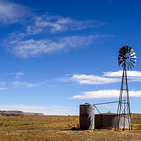 A windmill pumps water for livestock in Pinedale Tuesday.