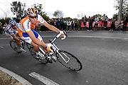 France, VEIGNE , 11 October 2009: RABOBANK (RAB) rider Mathew HAYMAN on the Côte de Crochu climb during the Paris Tours cycle race. Photo by Peter Horrell / http://peterhorrell.com...