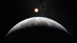 April 13, 2018 - U.S. - The worlds orbiting other stars are called 'exoplanets' and they come in a wide variety of sizes, from gas giants larger than Jupiter to small, rocky planets about as big around as Earth or Mars. This artist's impression shows an exoplanet orbiting the Sun-like star HD 85512 in the southern constellation of Vela (The Sail). This rocky super-Earth is an illustration of the type of planets future telescopes, like NASA's Transiting Exoplanet Survey Satellite (TESS) and James Webb, hope to find outside our solar system. TESS, slated to launch on April 16, 2018, is the next step in the search for planets outside of our solar system, including those that could support life. (Credit Image: ? M. Kornmesser/ESO/NASA via ZUMA Wire/ZUMAPRESS.com)