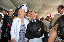 The DUCHESS OF RICHMOND & GORDON and FRANKIE DETTORI at the 3rd day of the 2011 Glorious Goodwood Racing Festival - Ladies Day at Goodwood Racecourse, West Sussex on 28th July 2011.