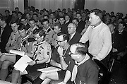 24/03/1963<br /> 03/24/1963<br /> 24 March 1963<br /> Scout leaders conference at the Shelbourne Hotel, Dublin.  Mr Dan Tracey, Assistant Diocesan Commissioner for Down and Connor, speaking at the 2nd Annual National Conference of Catholic Scout Leaders and Chaplains.