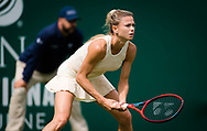 Camila Giorgi of Italy in action against Karolina Pliskova of the Czech Republic during her first round match at the 2021 Viking International WTA 500 tennis tournament on June 22, 2021 at Devonshire Park Tennis in Eastbourne, England - Photo Rob Prange / Spain ProSportsImages / DPPI / ProSportsImages / DPPI