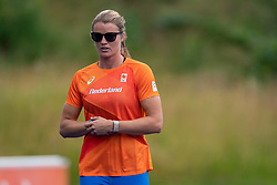 Dafne Schippers in action during the Press presentation of the olympic team Athletics on July 8, 2021 in Papendal Arnhem