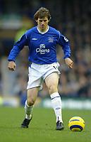 Fotball<br /> England 2004/2005<br /> Foto: SBI/Digitalsport<br /> NORWAY ONLY<br /> <br /> Everton v Fulham<br /> Barclays Premiership. 20/11/2004. <br /> Kevin Kilbane of Everton