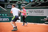 Illustration Bache EDF ENGIE  / Amelie MAURESMO  COACH DE Andy MURRAY - 21.05.2015 - Roland Garros 2015<br />Photo : Nolwenn Le Gouic / Icon Sport
