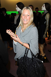DAVINA HARBORD at a party hosted by Prada to celebrate launch of a book documenting the company's diverse projects in fashion, architecture, film and art held at their store 16/18 Old Bond Street, London on 19th November 2009.